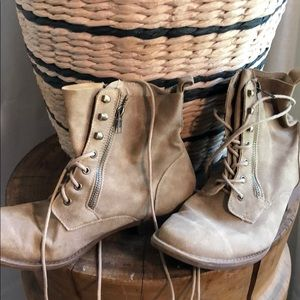 New lace up combat boots